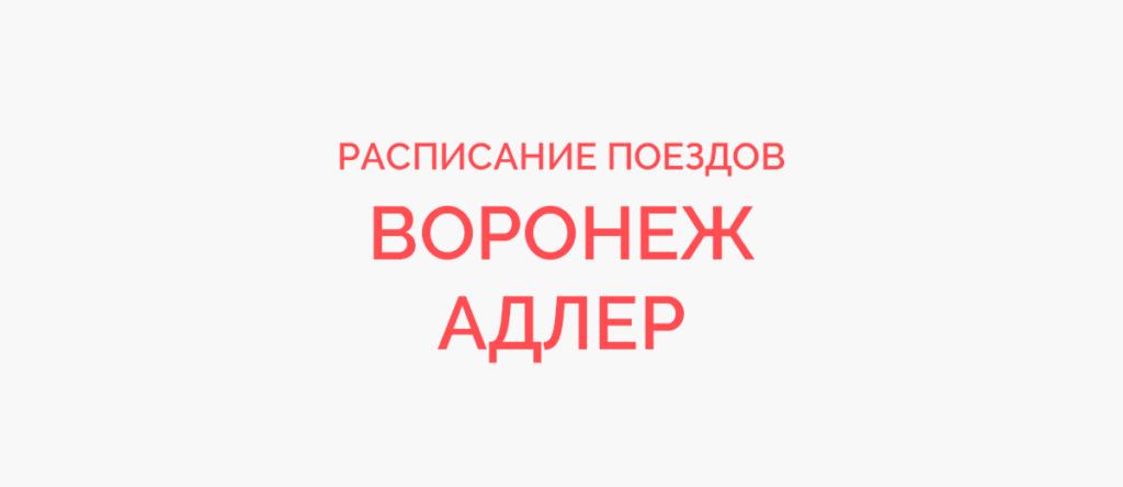 Поезд Воронеж - Адлер