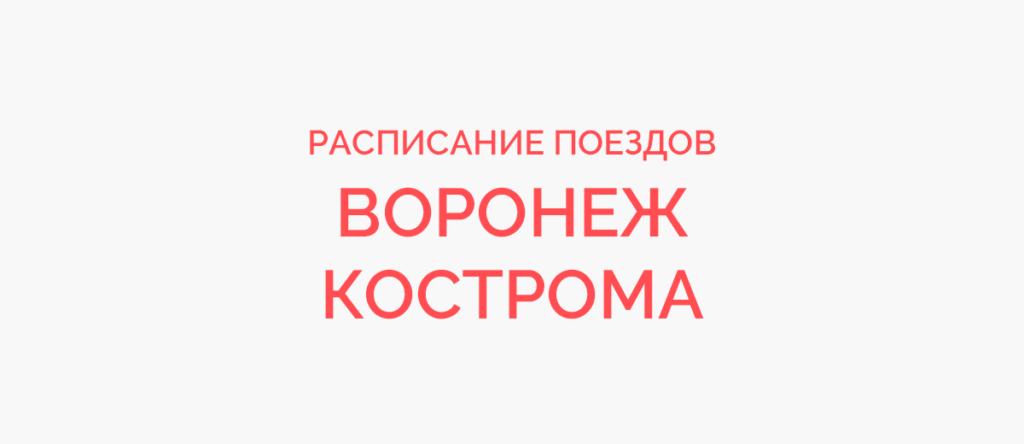 Поезд Воронеж - Кострома