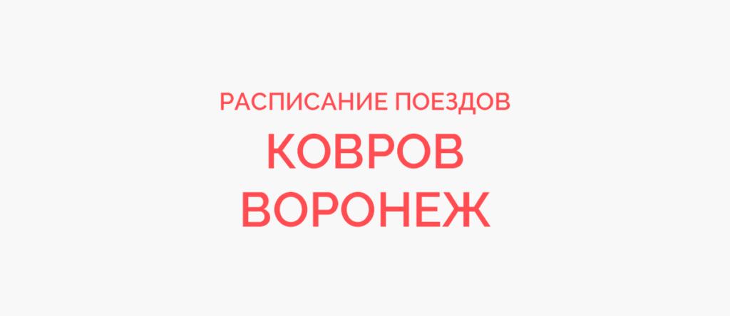 Поезд Ковров - Воронеж