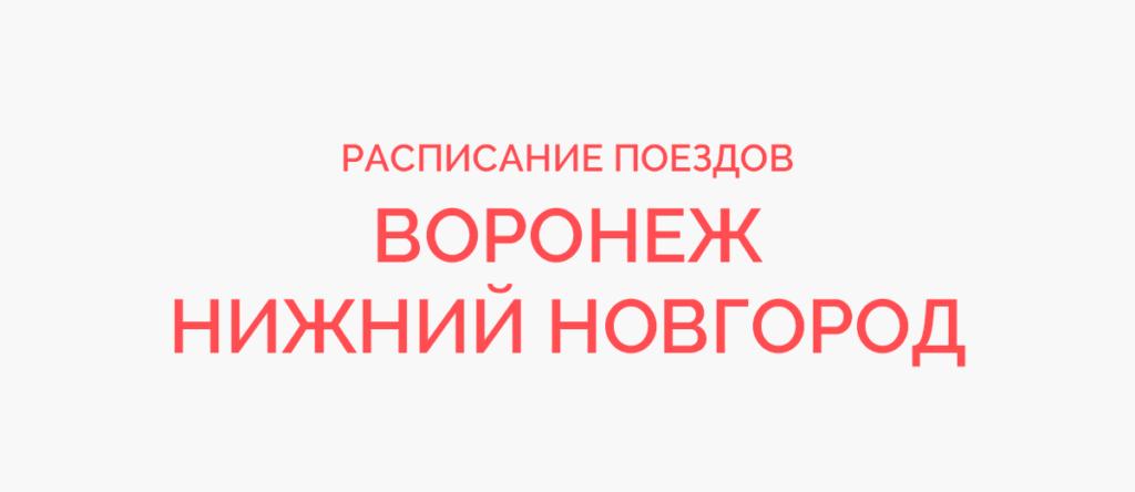 Поезд Воронеж - Нижний Новгород
