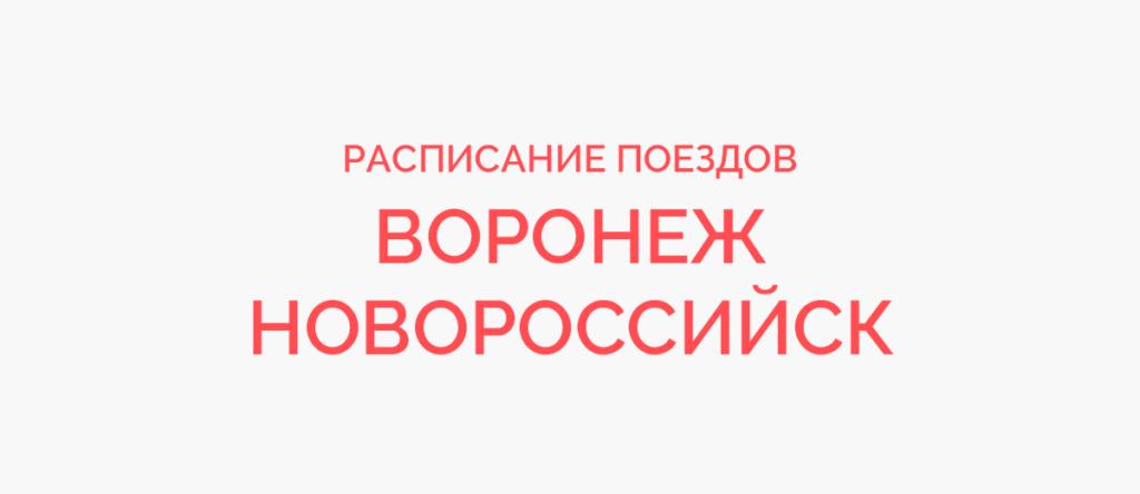 Поезд Воронеж - Новороссийск