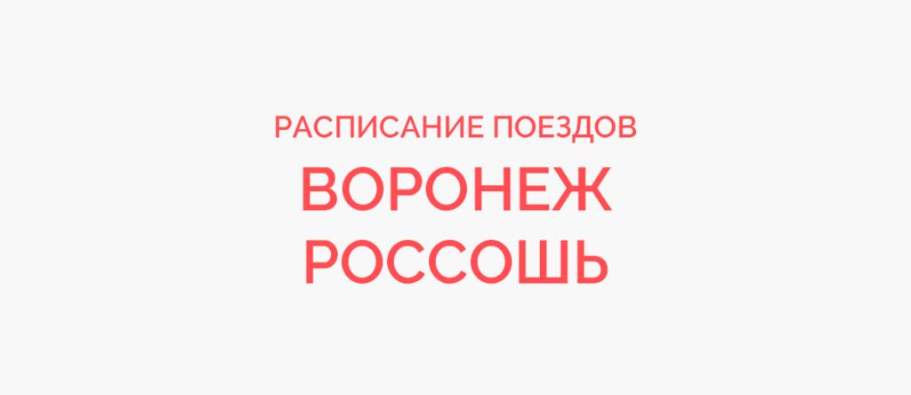 Поезд Воронеж - Россошь