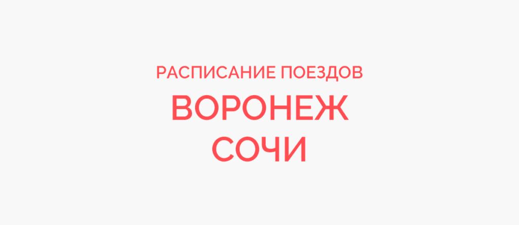 Поезд Воронеж - Сочи